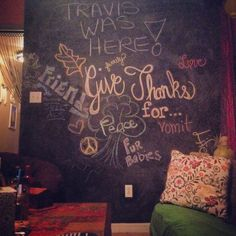 Friendsgiving interactive chalkboard wall