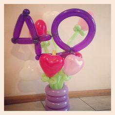 40th birthday heart bouquet