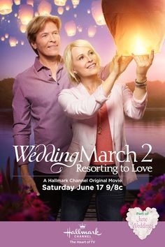 Wedding March 2: Resorting to Love starring Jack Wagner and Josie Bissett air Sunday night 9/8c! Make a date with these college sweethearts trying to revive Willow Lake Inn. #JuneWeddings  #HallmarkChannel @hallmarkchannel
