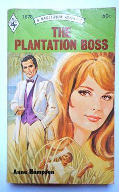 vtg pulp book novel harlequin romance The Plantation Boss by Anne Hampson 1973