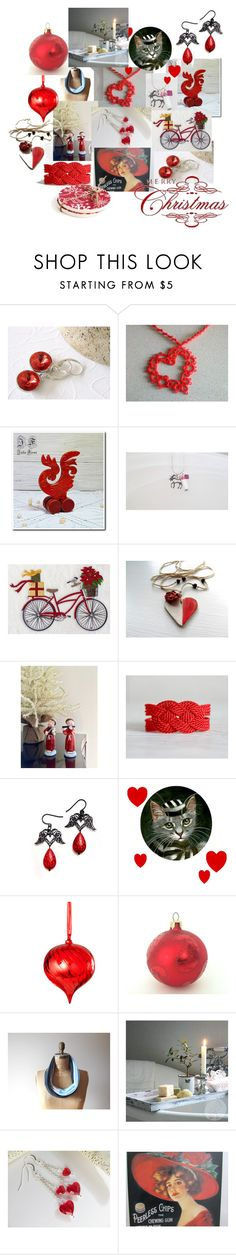 """""""A Little Christmas Love"""" by inspiredbyten ❤ liked on Polyvore featuring Sage & Co. and WALL"""
