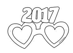 Party Glasses New Year 2017 template