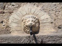 The Pyli Spring on the island of Kos in Greece. Kos, Greece, Lion Sculpture, Island, Statue, Spring, Videos, Youtube, Greece Country