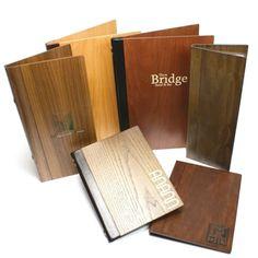 Real Wood Menu Covers