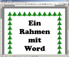 Weihnachtlich: Ein Rahmen aus Tannenbäumen.