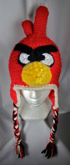 Angry Birds HatNewborn to Adult by robynperlmandesigns on Etsy, $65.00