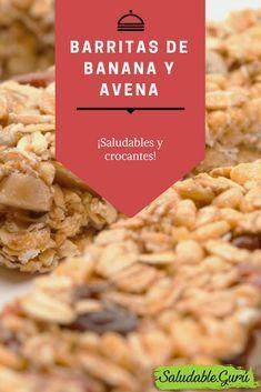 Barritas de Banana y Avena. Saludables y crocantes.