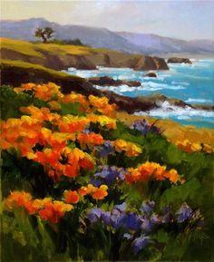 Poppies aPlenty - Original Fine Art for Sale - � Erin Dertner