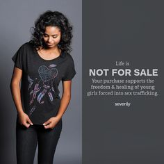 sevenly.org is a website/ company that creates awareness of issues around the world and donates 7$ out of each item someone purchases to a new charity every week. Besides the donations I love, I love all their cute stuff.