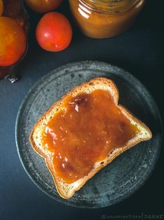 Mirabelle Plum Jam Recipe (Vegan, Refined Sugar-Free, Maple-Sweetened) #veganrecipes #glutenfreerecipes #plums #jam