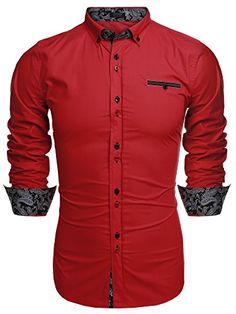 Coofandy Men's Fashion Slim Fit Dress Shirt Casual Shirt ... http://www.amazon.com/dp/B01D9GOT26/ref=cm_sw_r_pi_dp_H.Gixb1WRS2EH