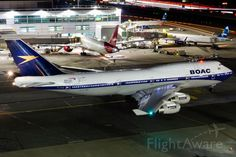 "British Airways Boeing 747-436 ""BOAC RetroJet"" (registered G-BYGC) Thailand Travel, Croatia Travel, Bangkok Thailand, Hawaii Travel, Italy Travel, 747 Jumbo Jet, Helicopter Cockpit, Boeing 747 400, Cargo Aircraft"