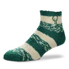 Women's For Bare Feet Milwaukee Bucks Pro Stripe Sleep Socks, Size: Large, Ovrfl Oth