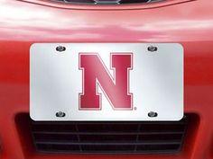 "University of Nebraska License Plate-Inlaid 6""""x12"""""