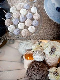 yarn cake pop
