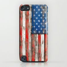 USA Vintage Wood iPhone & iPod Case