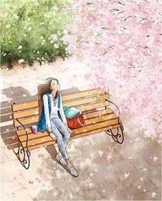Trendy Drawing Of Girls Sitting Anime Art Ideas Art And Illustration, Animal Illustrations, Character Illustration, Fantasy Kunst, Anime Art Girl, Manga Art, Cute Drawings, Cute Wallpapers, Cute Art