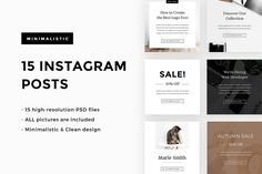 50 Posts & Stories PSD for Instagram by Marie.Smth on @creativemarket