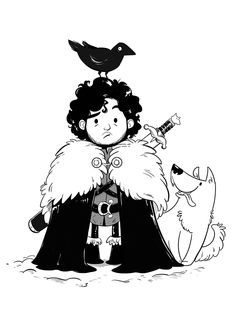 Jon Snow by Giulia Airoldi, via Behance