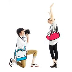 2D illustrated Jump from Paper Bags and Satchels - Perfect for iPad/Tablets / Home