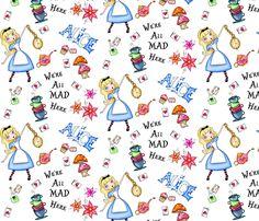 I dream of Alice fabric by tuesdaydesigns on Spoonflower - custom fabric