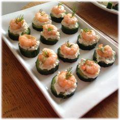 #healthy canapé ideas #glutenfree use cucumber as a base