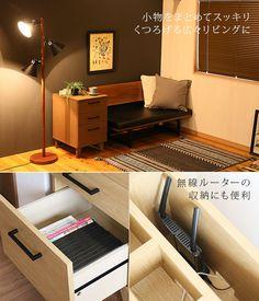 毎日使うものをまとめて収納 ナイトテーブル BLISS お部屋に馴染みやすい、シンプルなデザイン