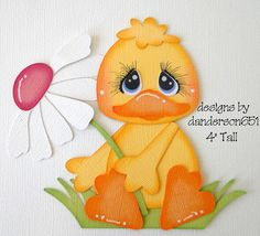 Duck with Flower Paper Piecing PreMade 4 Borders Scrapbook Album danderson651