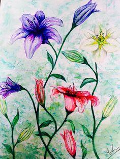 Flower - Live paint - Sketchbook -Aquarela
