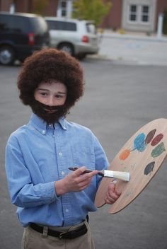 Television Painter Bob Ross | 30 Best DIY Kids Halloween Costumes Your Mom Never Made For You
