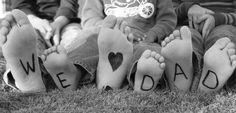 Schöne Foto Idee für den Vatertag und Papas Geburtstag