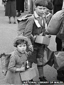 The evacuees avoided the Liverpool blitz which killed more than 4,000, with many going to Wales
