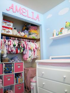 Wish I could pull the damn doors off the closet!  Baby Nursery Photos - Unique Nursery Ideas