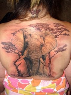 elephant tattoo finished by asuss06.deviantart.com by aline