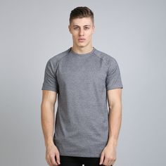 Vent Zip Up Longline T-shirt - Grey Melange  // Click the link to buy or for more info - https://www.king-apparel.com/new-collection/t-shirts/vent-zip-up-longline-t-shirt-grey-melange.html