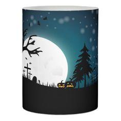 Halloween landscape flameless candle - kids kid child gift idea diy personalize design