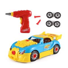 Take Apart Toy Racing Car Kit For Kids W Electric Toy Drill, Lights and Sounds - Build Your Own Car Toy For Boys and Girls age 3, 4, 5, 6 yrs - 12 years old Best Gift For Kids * Click on the image for additional details. (This is an affiliate link)