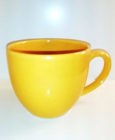 Waechtersbach Germany Yellow Mug Yellow by AKitschIsJustAKitsch