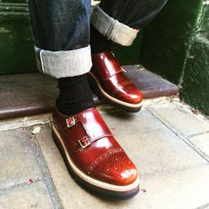 Edmund // Our new double monk on a ripple sole #grenson #grensons #grensonshoes #edmund #doublemonk #ripple #sole #gtwo #mens #honey #hishine #leather #brogue #aw15 #newseason #edmund #grensonbloomsbury #lambsconduitst #london