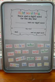 Cute idea for a center! My class loves to sing the song already.