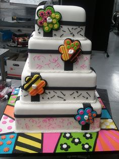 Britto Cake by Mighty Fine Cakes, via Flickr Best Cake Ever, Food Artists, Creative Desserts, Take The Cake, Fancy Cakes, Sweet Cakes, Cupcake Cookies, Cake Art, Beautiful Cakes