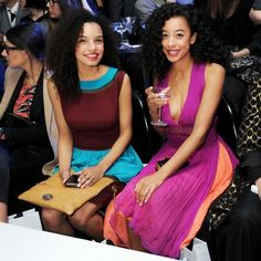 Corinne Bailey Rae and Candice Bailey Rae attend the 2013 International Woolmark Prize Final at ME London in London, England. Corinne Bailey Rae, Girls Are Awesome, Hair Upstyles, Mane Event, Natural Women, Au Natural, African American Hairstyles, Fancy Hairstyles, Style And Grace