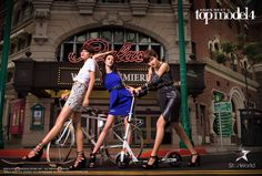 "Nuraini ""Tuti"" Noor [Malaysia], Angela ""Angie"" Watkins [Singapore] and Jiratchaya ""Tawan"" Kedkong [Thailand] -- Cycle 4 Asia's Next Top Model, Cycling, Thailand, Wrestling, Photoshoot, Fashion, Lucha Libre, Moda"