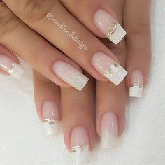 2019 Trendy and Creative Nail Designs to Try - Naija's Daily French Acrylic Nails, Cute Acrylic Nails, Cute Nails, Pretty Nails, Creative Nail Designs, Creative Nails, Bride Nails, Wedding Nails, Romantic Nails