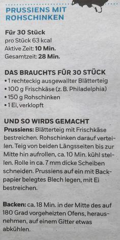 Prussiens mit Rohschinken Personalized Items, Hams, Recipies