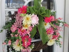 Spring WreathEaster WreathMother's Day by AutumnsEchoShoppe, $36.00
