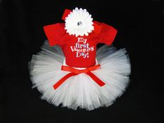 Baby Girl Valentines Day Outfit  Babys by EleventhHourDesigns, $38.00
