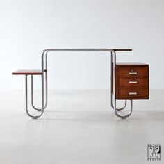Tubular steel desk from the 30s