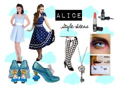 """""""Alice"""" by bluebanana ❤ liked on Polyvore featuring Irregular Choice and Barry M"""