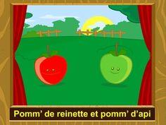 Pomme de reinette et pomme d'api Apple Crafts, Apple Unit, Apple Activities, French Immersion, Teaching Music, Grade 1, Teacher Stuff, Apples, Teaching Ideas